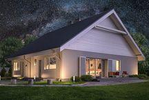 Domy - nastrojowo :) / Projekty domów z Kolekcji Murator Projekty w odsłonach wieczorowych, porannych, w szacie zimowej, jesiennej, letniej :)