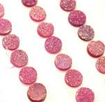 10mm Round Natural Pink Color Coated Druzy Loose Gemstone