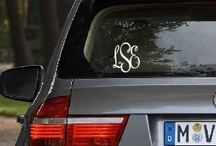 Preppy Decals / Decals are great because you can use them on any smooth flat surface.  Personalize items that can be embroidered easily.