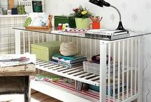 Crib crafts / Repurpose for old crib