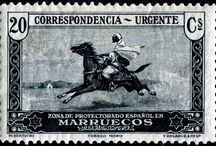 Spain - Morocco Stamps