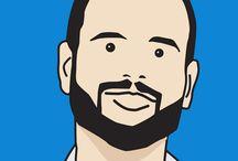 Julian Opie Style Avatars / Portraits from $5 / Julian Opie style Avatars / Portraits from $5 @ www.fiverr.com/rocketriver/create-your-avatar-in-julian-opie-style