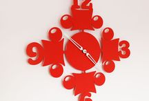 Red clock CIRCUS / Red clock Circus Red brilliant powder coating painted. Silent Precision quartz movement made in Germany. © Tolonensis Creation  -  This clock is an original creation designed by french creator Jacques Lahitte. Shipping within EU countries, USA, Canada, Japan, Australia... Contact us for other destinations info@tolonensis.com