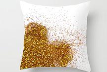 Glittery pillows