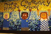 VES - Welcome wall art / Ideas for the wall art in the lunch room for open house in 2 weeks...