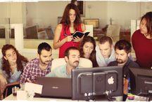 Ofisten Manzaralar / AdresGezgini'nin mutlu çalışanlarından ofis halleri