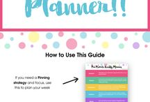 Blog planner / Planner for bloggers. Content calendar. Social media post planner. Content planner.
