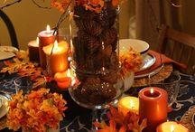 Fall table decor   / by Helen Race