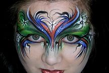 Face and Body Art, by Mary Fairgrieve, Face This Way, UK, www.facethisway.co.uk / Face and Body Art, canvas and other art