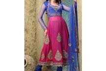 Anarakali Style Salwar Kameez / http://www.kolkozy.com/women/salwar-kameez/anarakali-style-salwar-kameez.html