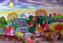 Волшебный мир художника Ласло Кодай.