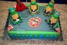 Ninja Turtle Cakes for keaton