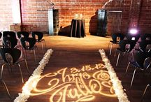 GOBOs! / GOBOs come in steel, glass and plastic for projecting images on the wall, ceiling and/or floors!  A great inexpensive way to add drama and dimension to  your event.