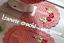 conj.de banheiro em crochê