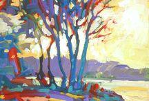 Arrest Simon Bell coloured trees