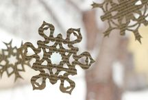 snowflakes and winter