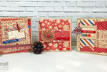 Dovecraft North Pole / The Dovecraft North Pole papercraft collection is full of festivities! The nostalgic craft range features charming vintage inspired designs in a distressed, red, blue and kraft colour palette. The collection includes paper packs and a selection of coordinating embellishments such as wooden frames, sentiment toppers, plastic buttons and many more.