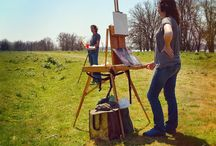 Outside! Plein air / Don Bishop plein air places