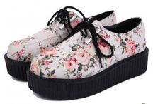 Creepers Lace Up Platforms Oxfords Shoes