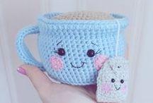 hæklet te kop