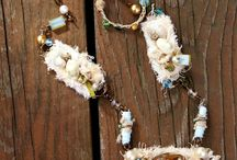 Mixed Media Jewelry by Sandy Babb / Handmade mixed media jewelry from Quill Cottage Studio