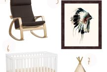 Aztec Boy Nursery Inspiration / The Aztec/Tribal/Bohemian look is a trending nursery theme and we've taken notice.  Here are some great ideas for your little man's room and some great crib bedding sets to match!