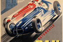 Vintage racing posters
