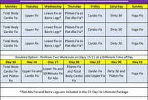 21 Day Fixing / Helpful ideas for 21 Day Fix