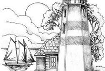 Light of the sea coloring pages