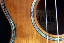 Ohana Soprano Ukulele SK-350G Hawaiian Koa Wood Limited Edition / Solid Koa wood top, back & sides Abalone inlay, top, rosette & head Rosewood fingerboard & bridge Mahogany binding / headstock overlay Premium geared tuners Aquila strings Bone nut & saddle Gloss finish  From: http://theukuleletradingcoaustralia.blogspot.com.au/