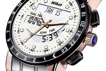 MIKAT DELUXE WATCHES / Mikat Men's Deluxe Dual-System (analog-digital) Prayer Watches