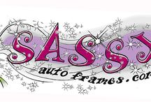Sassy Auto Frames / Bling License plate frames for cars, trucks SUV's or motorcycles! Jewelry for your car!
