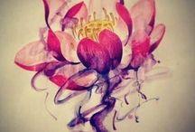 Цветок лотоса татуировки