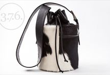 3.7.6. Bucket Bag BWC / Black and White Cow's Hide bucket bag.
