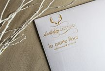 Holiday by La Petite Fleur / This is how we do holiday at La Petite Fleur. Custom designed window displays and holiday greetings.