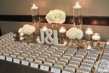 Place Cards / Sit your guests in an elegant reception  for you sit down dinner at your wedding