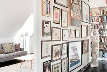 Walls / Beautiful gallery walls, art collections and decorated walls