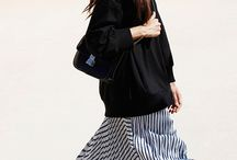 A silhouette: Long skirt and oversized top