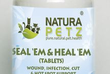 Seal 'Em & Heal 'Em / Seal 'em & Heal 'em Tablets are used holistically to seal & heal all types of wounds, fungi, rashes, cuts & hot spots; for all types of skin & coat irritations & allergies; for all types of ulcers & gastrointestinal distress; as a neurasthenic to reduce inflammation; to support the body's tissue repair mechanisms and to stop mutations in the skin.