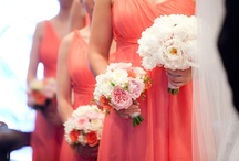 Peachy/ Pink/ Coral / by Sassafras Flower Design Wedding Flowers