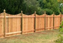 wooded fence