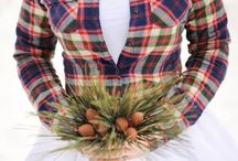 Plaid Weddings / Bring together the cozy rustic indoors and the crisp outdoors. Pair with elegant or rustic style, faux-fur or lace for a perfectly eclectic rustic look.