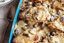 Pork chops / Baked