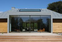 Project: Fairstead / A glass link and minimal framed glass to the new games room to a Grade II listed family home in Essex