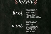 Wedding Menu Boards
