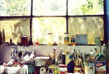 """Studio+Office / """"Art is the only way to run away without leaving home."""" ~Twyla Tharp"""
