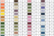 ricamo tabelle colori