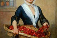 Живопись. Женский образ (цветочницы, продавщицы, селянки)
