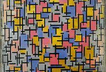 compositie / perspectief voor en achtergrond plaatsing van vormen en vlak vlakvulling