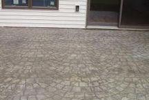 Stenciled Concrete